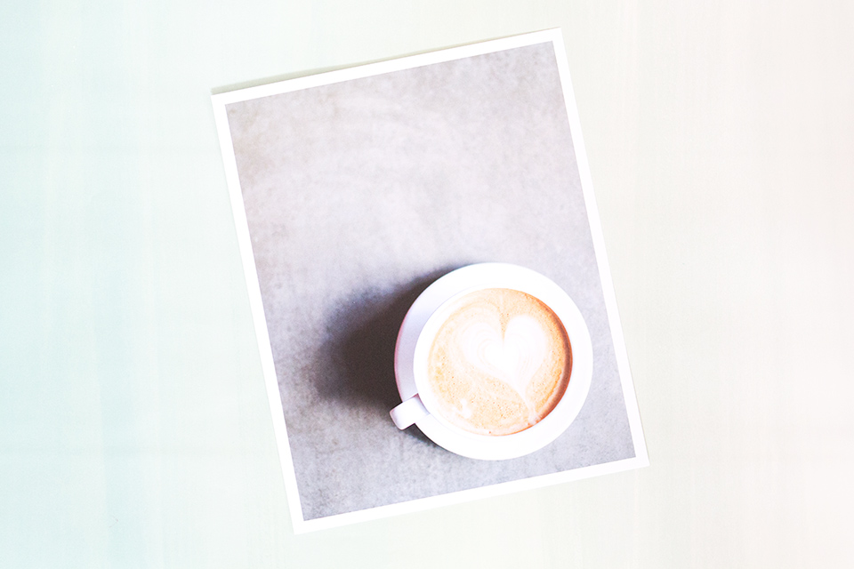 Coffee for one. This pretty art print from LH Photography would look so great in a kitchen or breakfast nook.