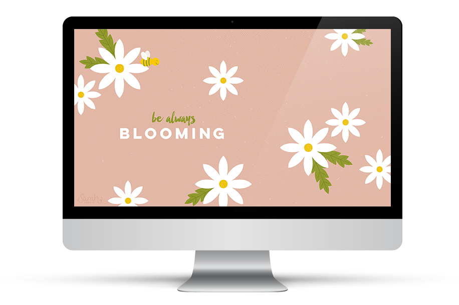 Be always blooming. Add some inspiration to your desktop with this free daisy wallpaper. Click through to download it for all your devices.