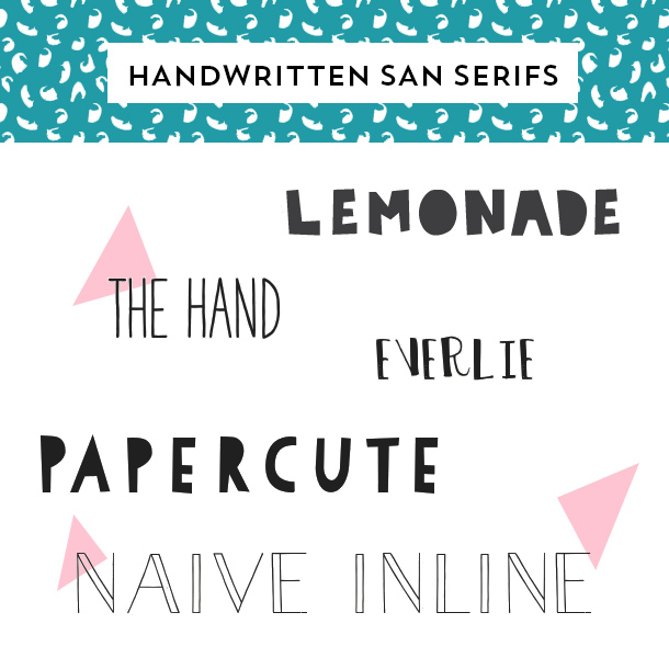 Add Some Creative Flair To Your Design With One Of These Awesome Handwritten San Serif Fonts
