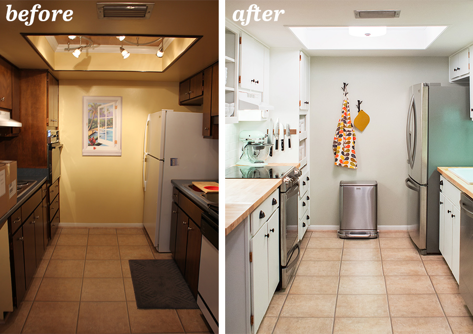 Diy Small Galley Kitchen Remodel Sarah Hearts