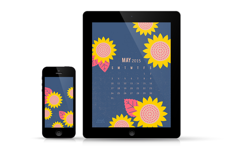 Add some bright sunflowers to your iPhone and iPad with this free wallpaper from sarahhearts.com