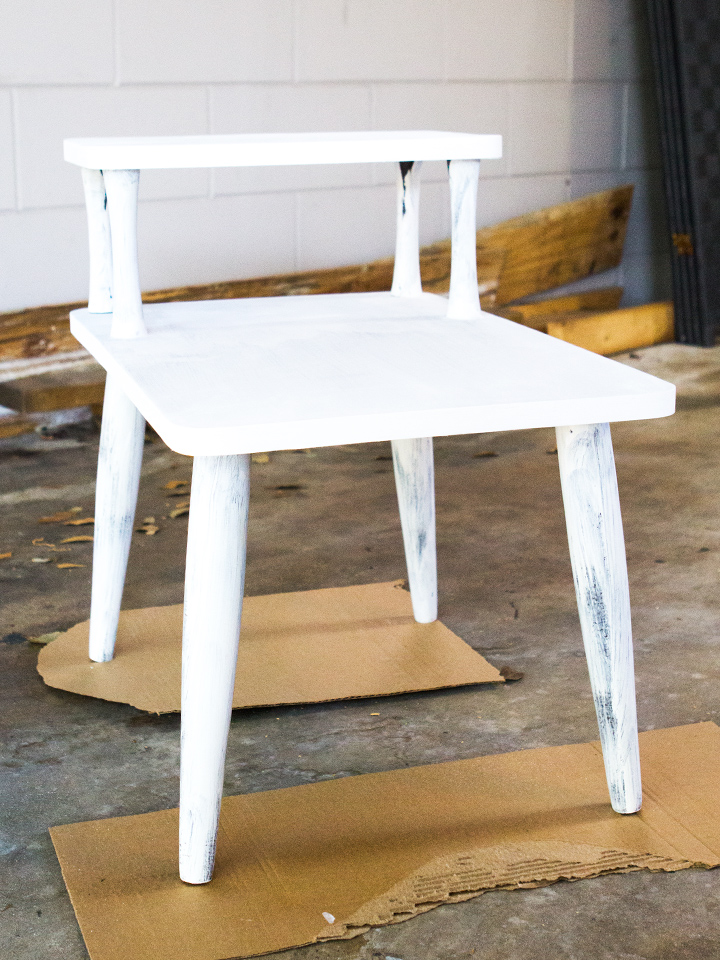 Chalk paint is perfect for transforming wood and laminate pieces a like. No primer or pre-sanding required!