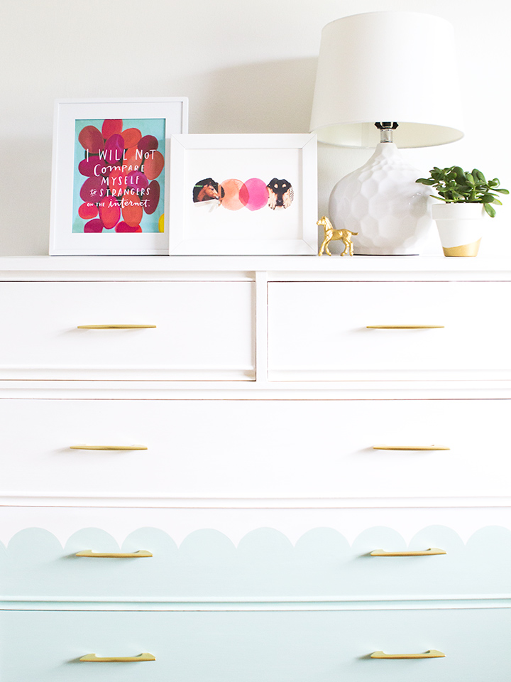 This DIY mid century tallboy dresser makeover is just adorable!
