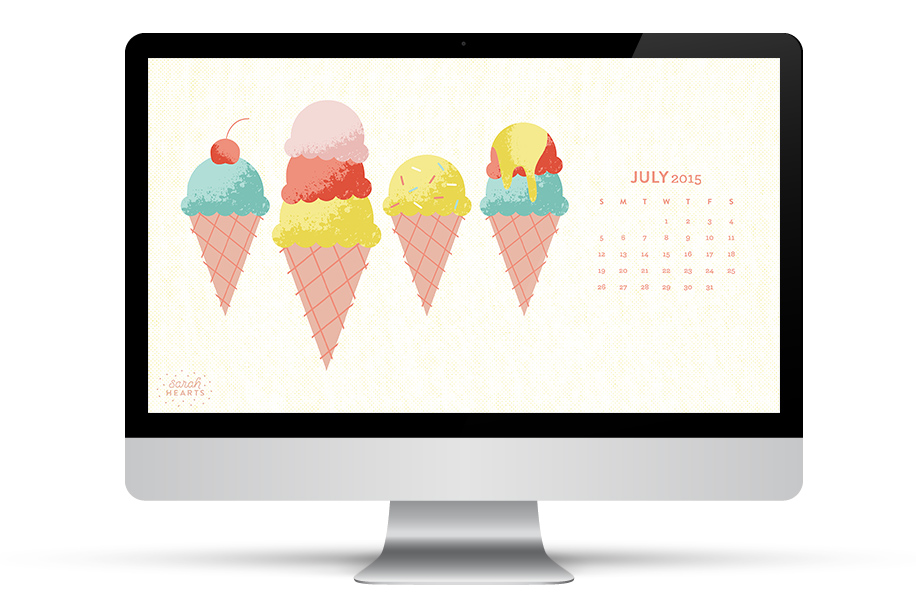This adorable wallpaper will make you crave ice cream! Click through to download it for all your devices including iPhone, iPad and computer.