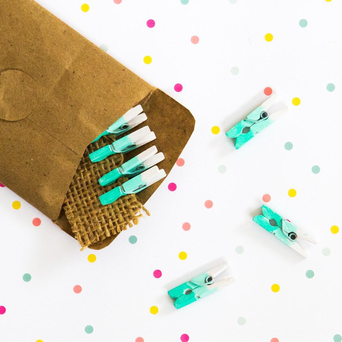 Tiny mini ombre clothespins by Mona Mini Treasure.