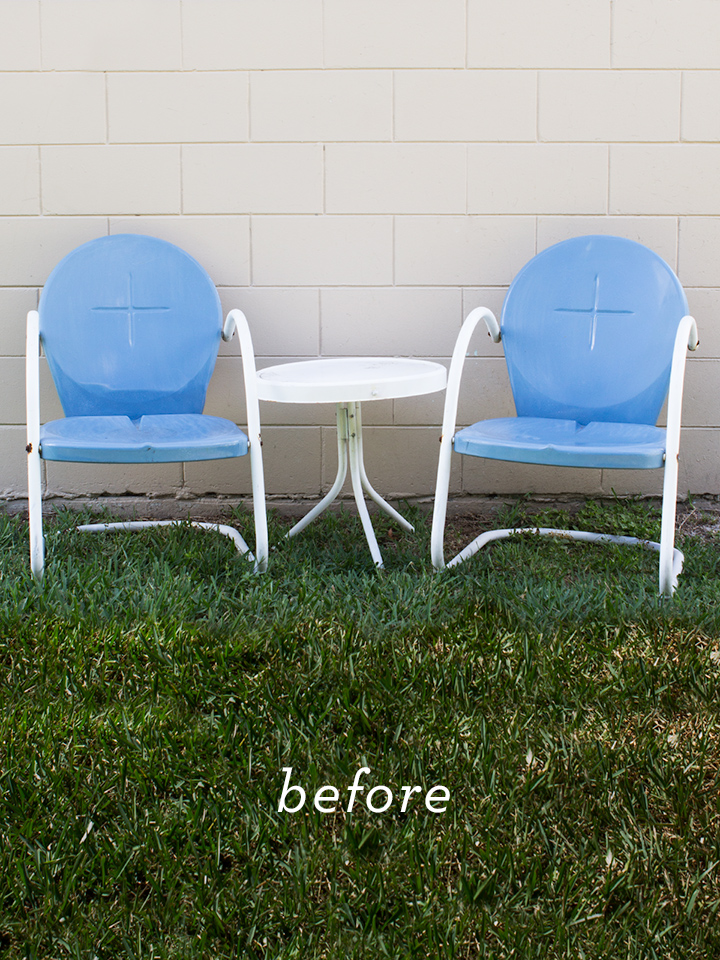 These fifties shell chairs are a cute addition to any patio or porch. Click through to see how they were transformed!