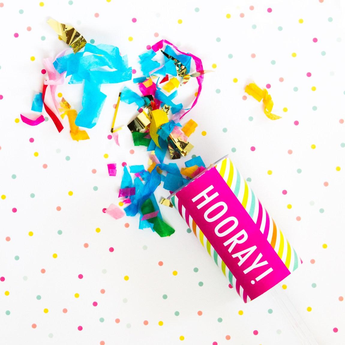 Hooray! Cute confetti poppers by Studio Pep.