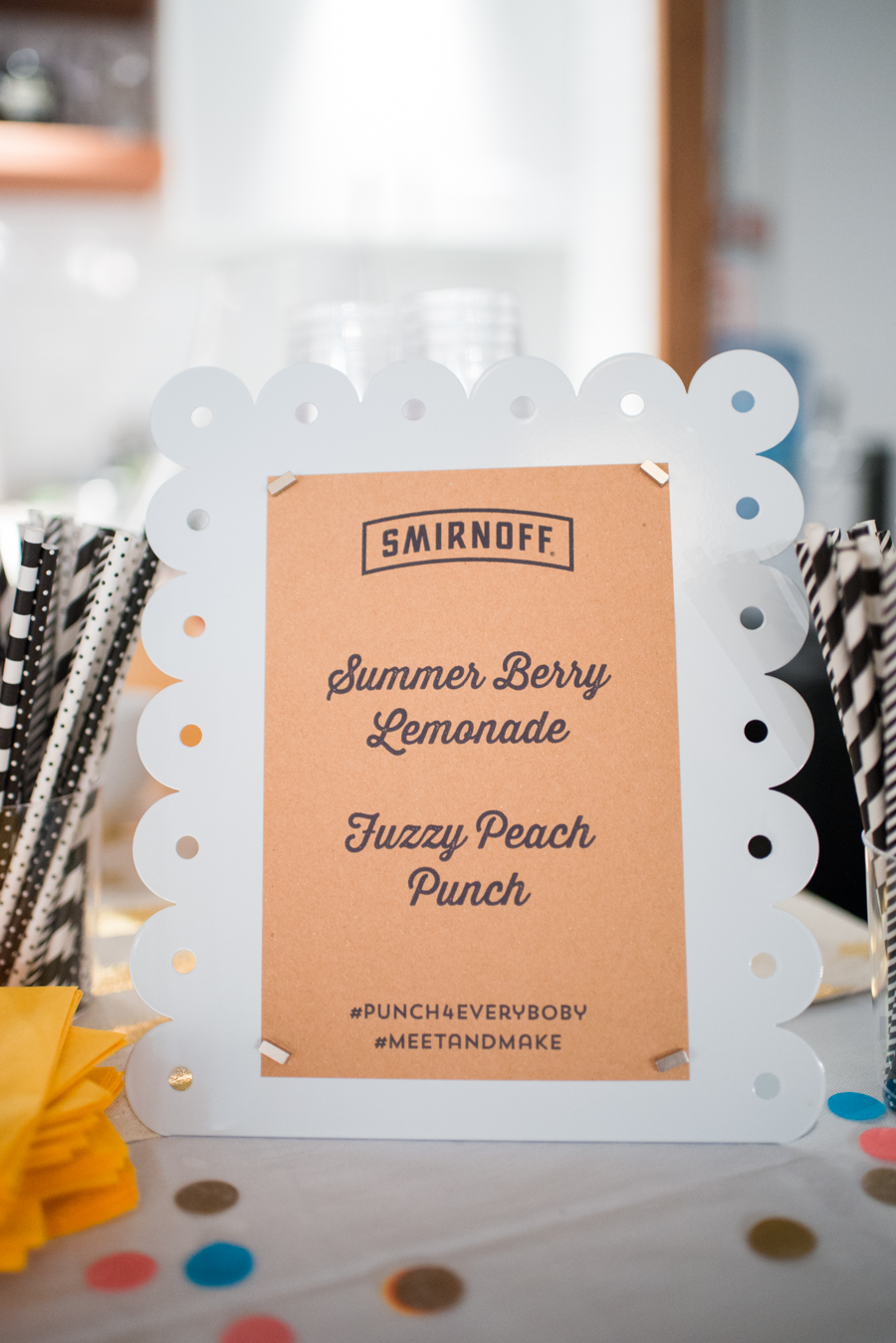 Love these cute cocktail menu boards! Click through for recipes for each punch.