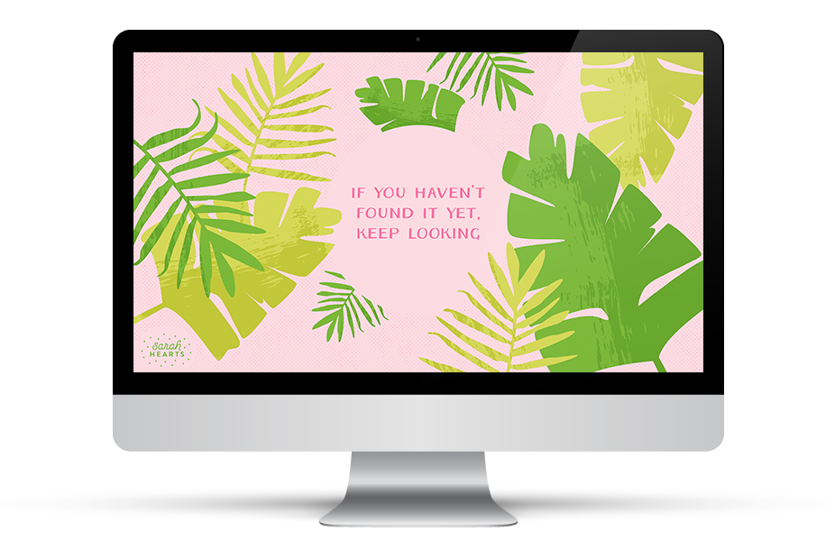 Loving this pretty palm wallpaper with an inspirational quote from Steve Jobs. Click through to download it for your computer, phone or tablet.
