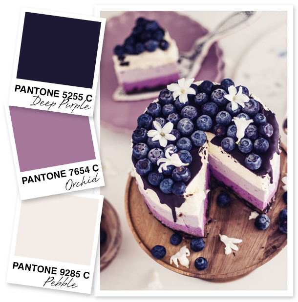 Don't be afraid to use dark colors when it comes to decorating. This deep purple pairs beautifully with its lighter variations and rosy shades of taupe.