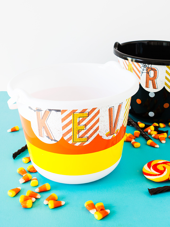 Create a personalized treat bag for your kids this Halloween with these free printable stickers (click through to download).