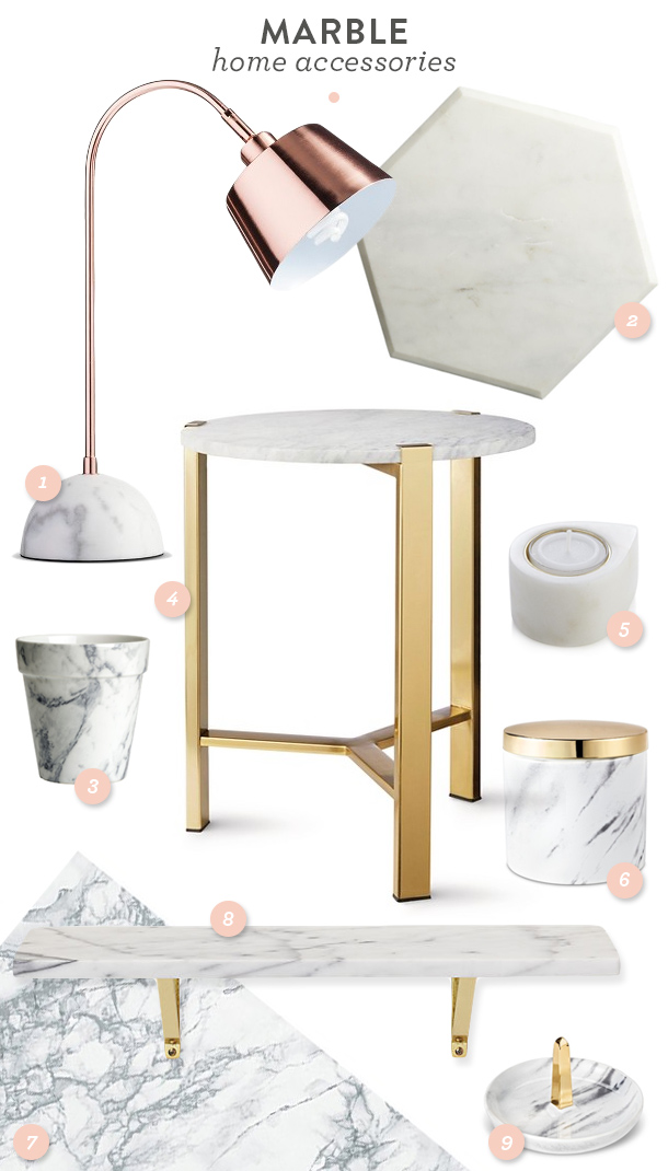 Trend Marble Home Accessories Sarah Heartsrhsarahhearts: Marble Home Decor At Home Improvement Advice