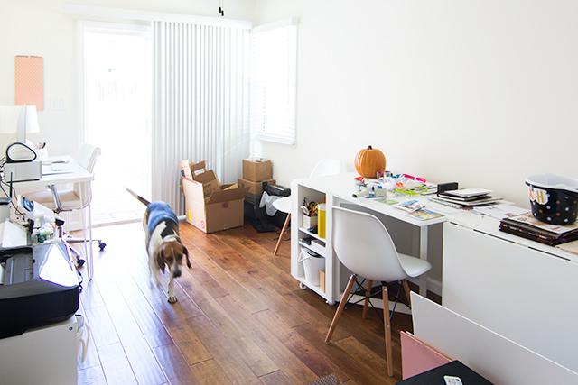 Blogger Sarah Hearts just relocated from Florida to Venice, Los Angeles and here's a peek her bungalow before she makes it her own.