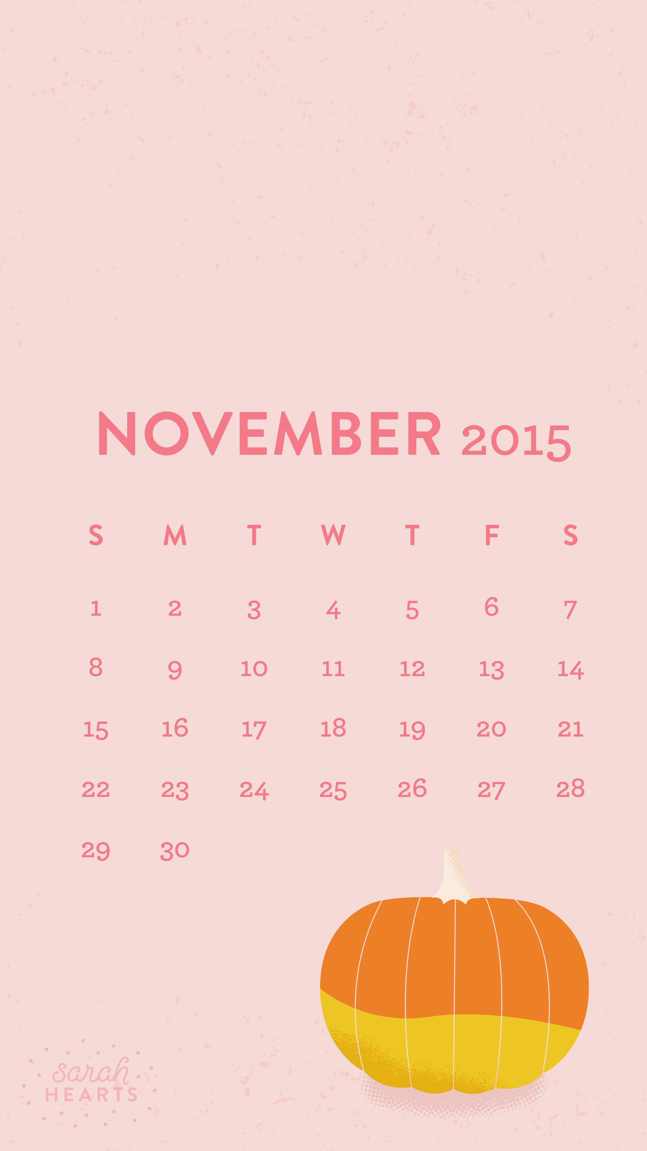 Fall Leaves Ipad Wallpaper November 2015 Calendar Wallpaper Sarah Hearts