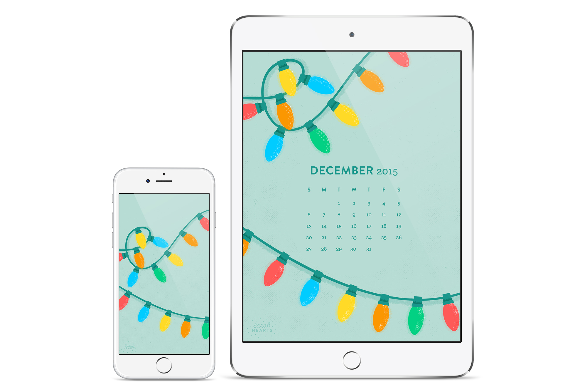 Take the holidays wherever you go with this free festive phone and tablet wallpaper!