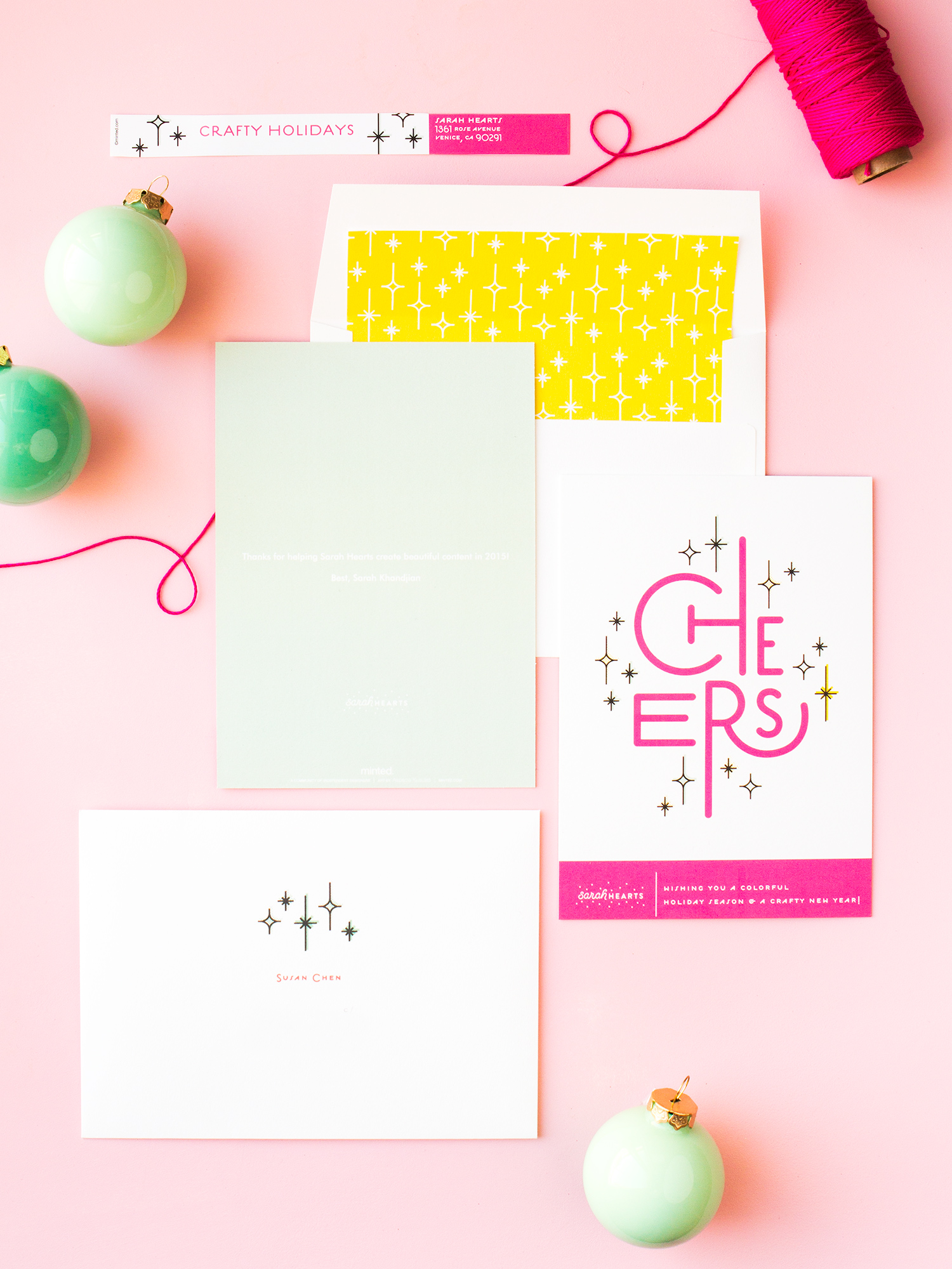 Custom Printed Business Holiday Cards - Sarah Hearts