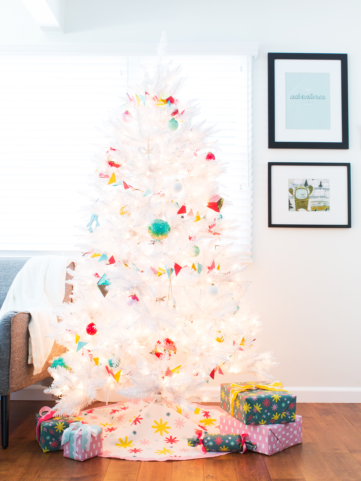 Custom Printed Christmas Tree Skirt - Sarah Hearts