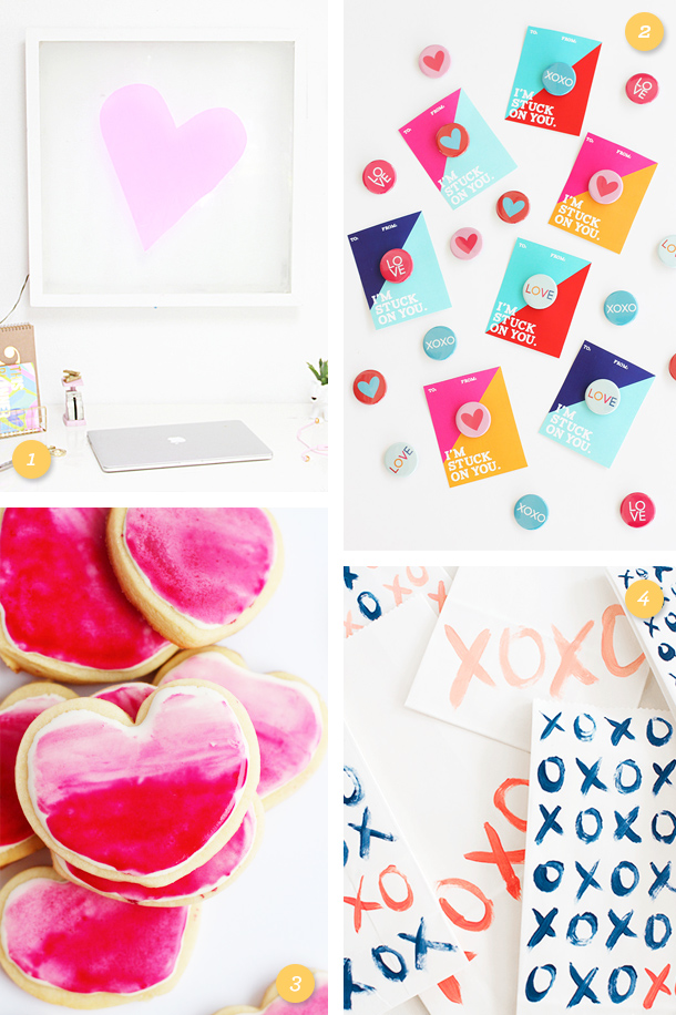 Adorable last-minute Valentine's Day gifts! Click through for links to each project.