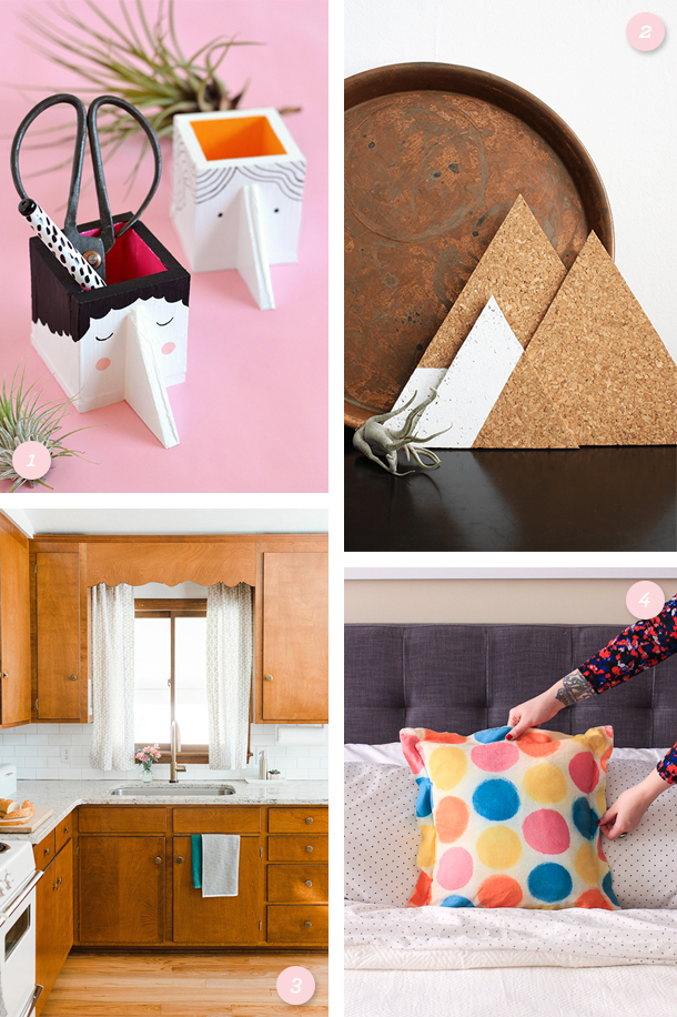 Create something beautiful for your home! Whether it's a budget friendly kitchen makeover or a simple trivet here are some great weekend project ideas. (Click through for links to each project)