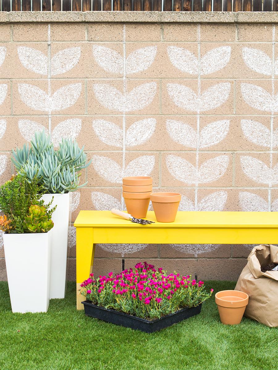 Diy Paint Dipped Ikea Norn 196 S Outdoor Bench Sarah Hearts