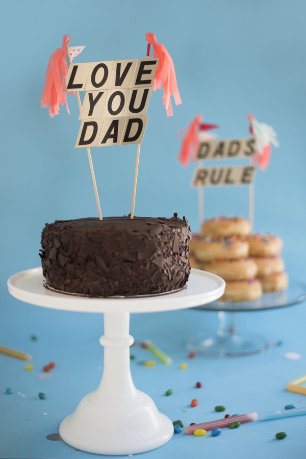 DIY Father's Day cake toppers