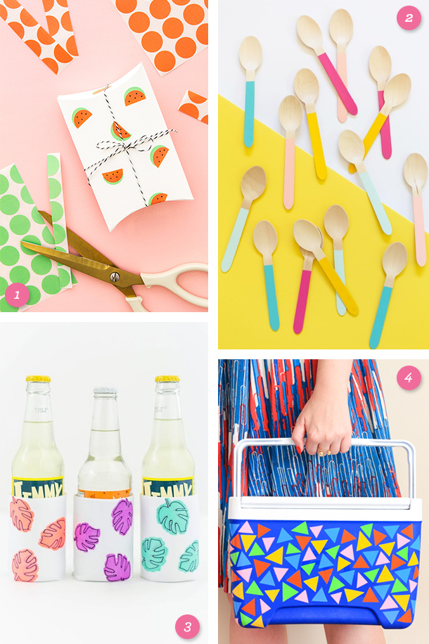 Get ready for a picnic with these adorable and easy summer inspired DIY projects!
