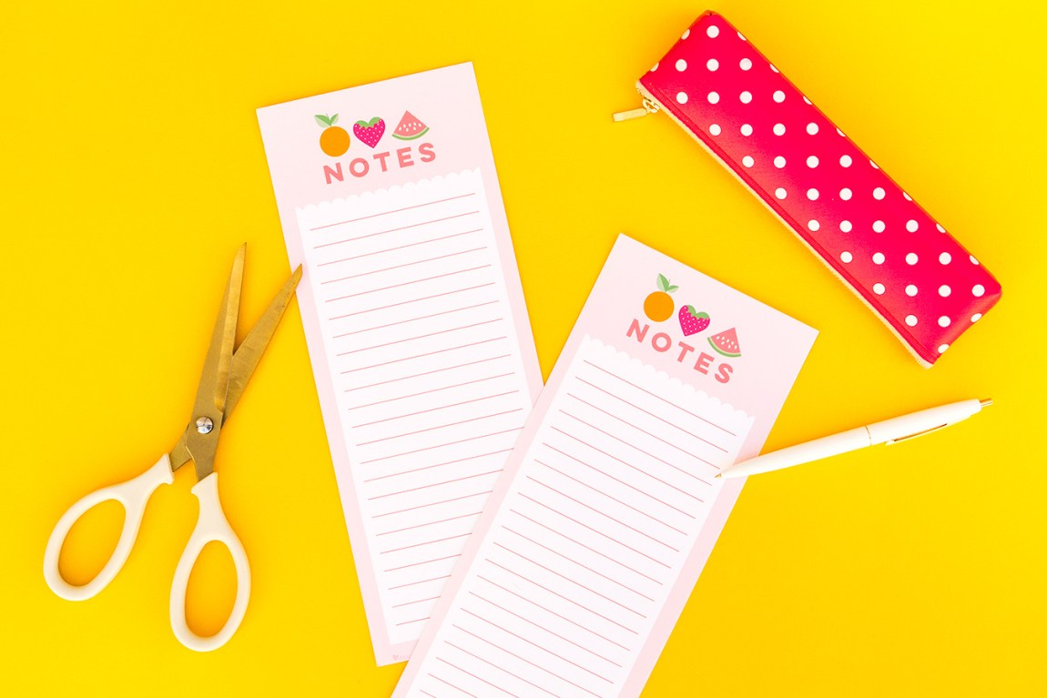 Free printable summer fruit note sheets perfect for grocery lists, to do items and more!