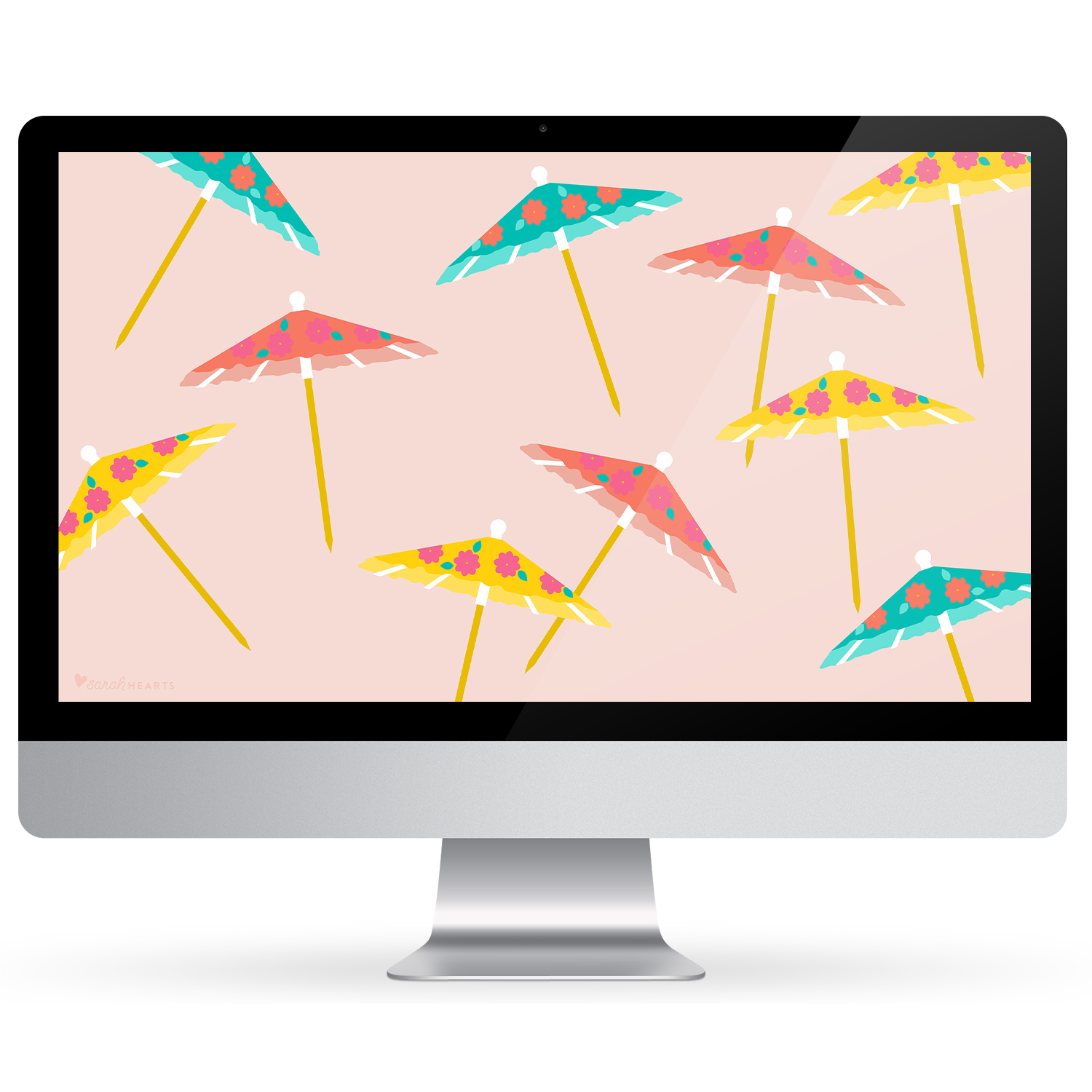 Savor summer by using this free drink umbrella wallpaper on all your devices!