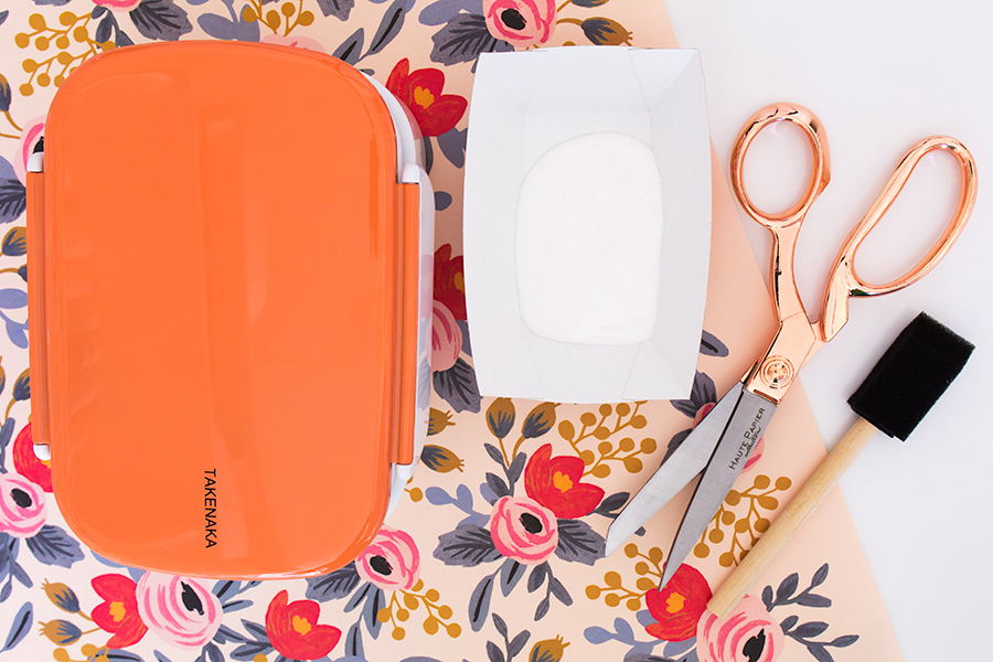 Carry your lunch in style by DIY-ing your own pretty floral bento box.