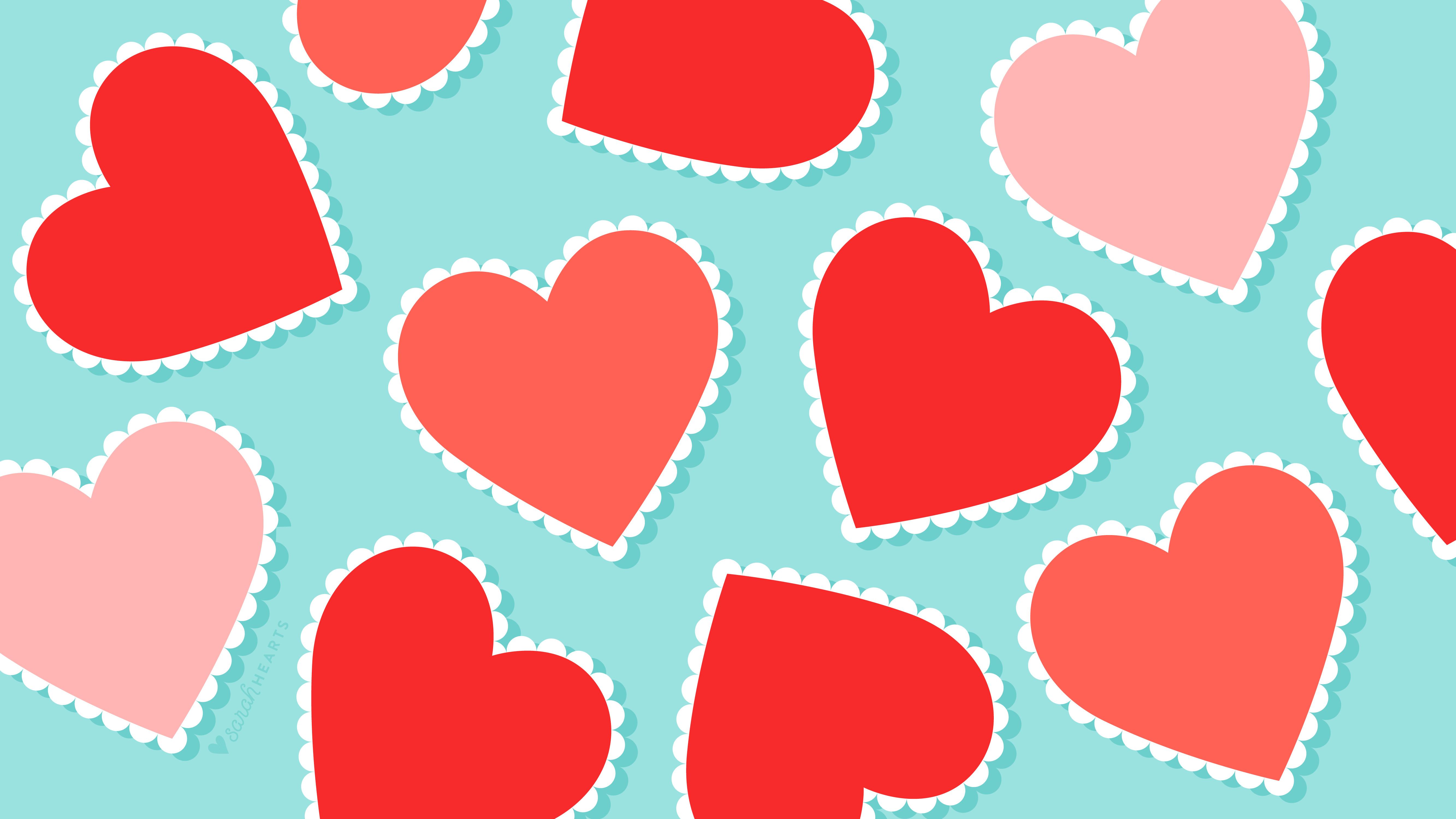 free scalloped heart valentine
