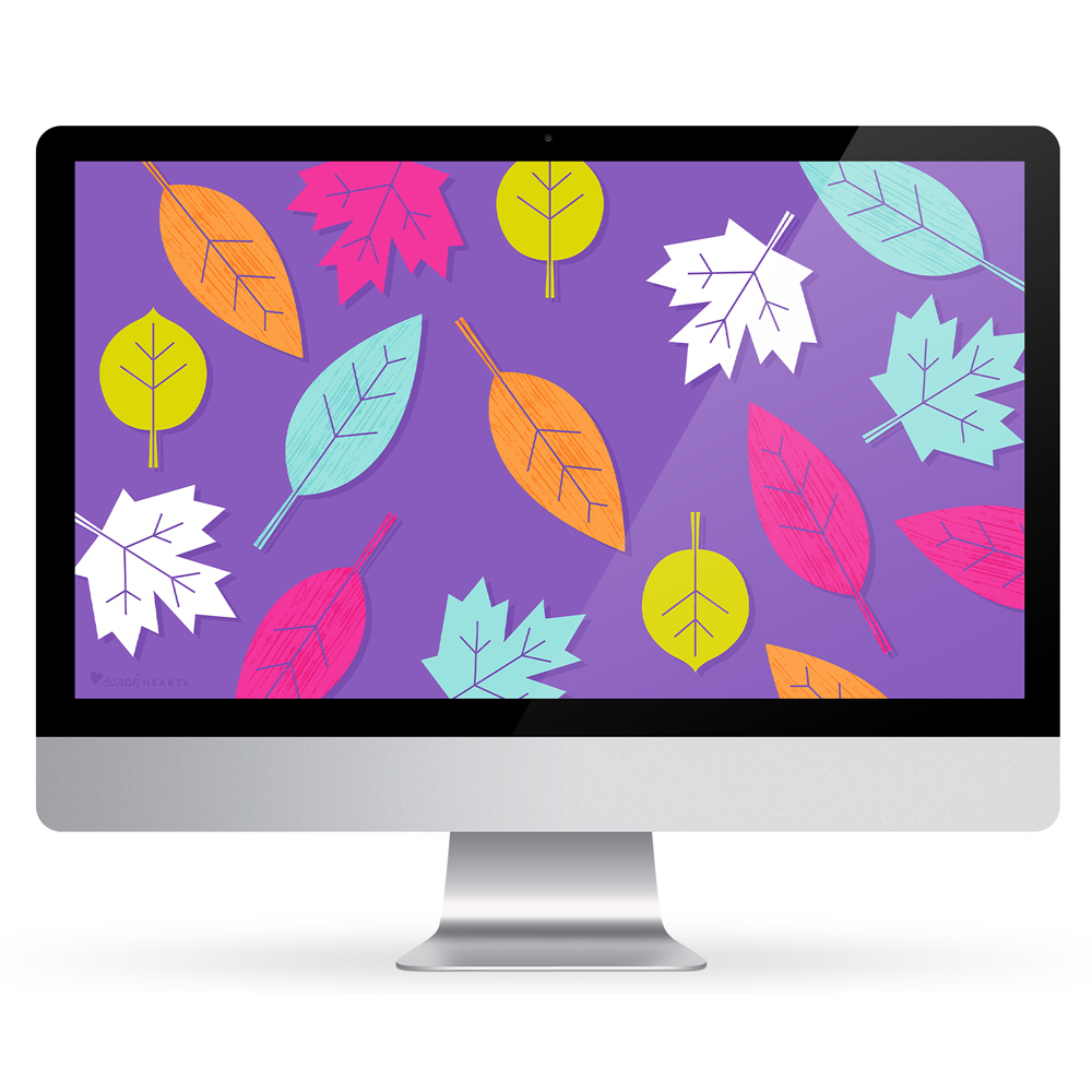 Dress up your computer, phone and tablet for fall with this fun fall leaf wallpaper!