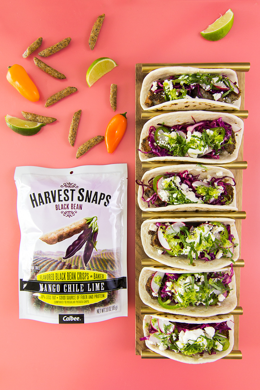 Get ready for taco Tuesday! Make these delicious crisp shrimp tacos using @Harvestsnaps in place of bread crumbs.