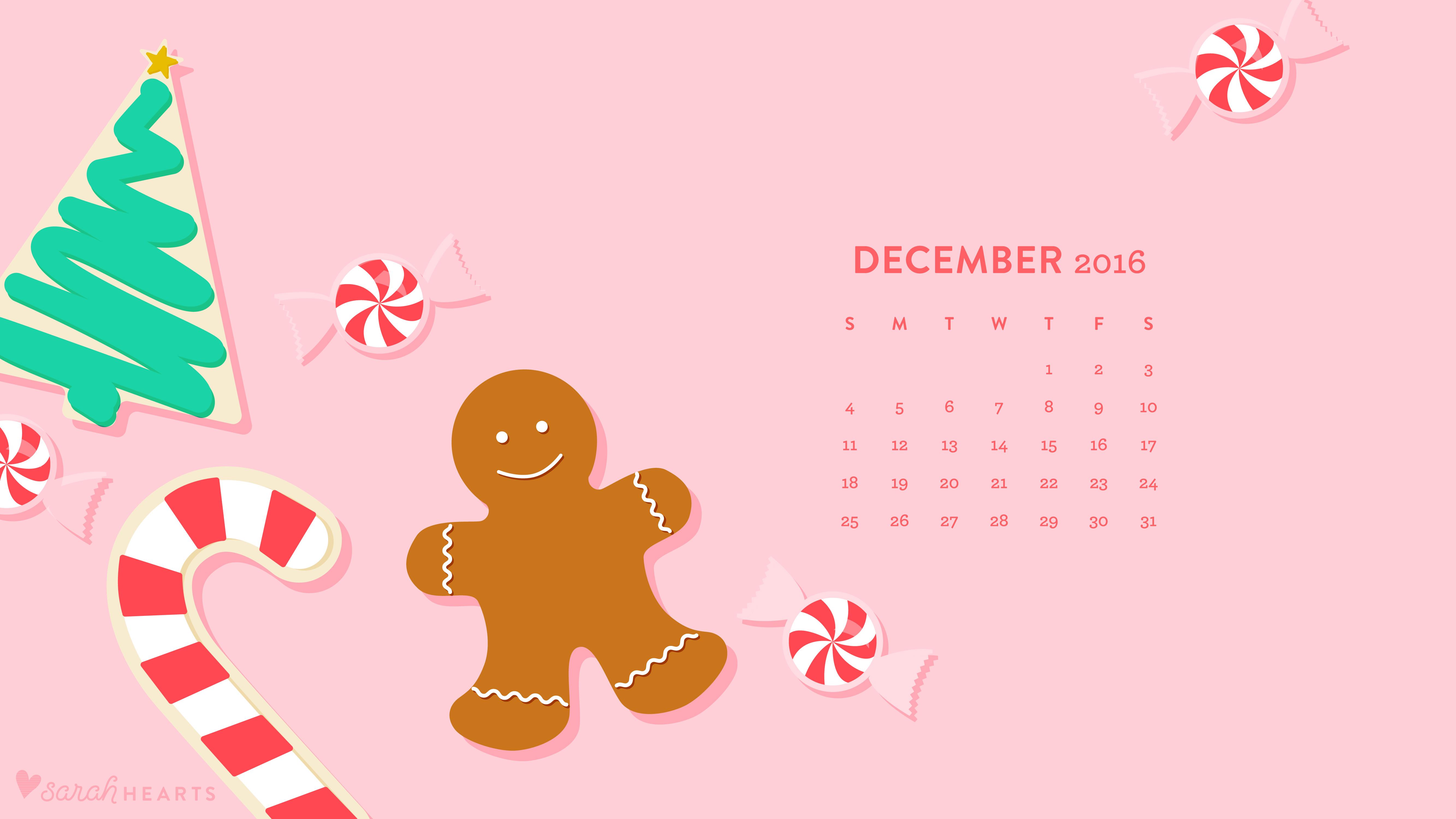 Cute Quote Wallpaper Download December 2016 Christmas Cookie Calendar Wallpaper Sarah