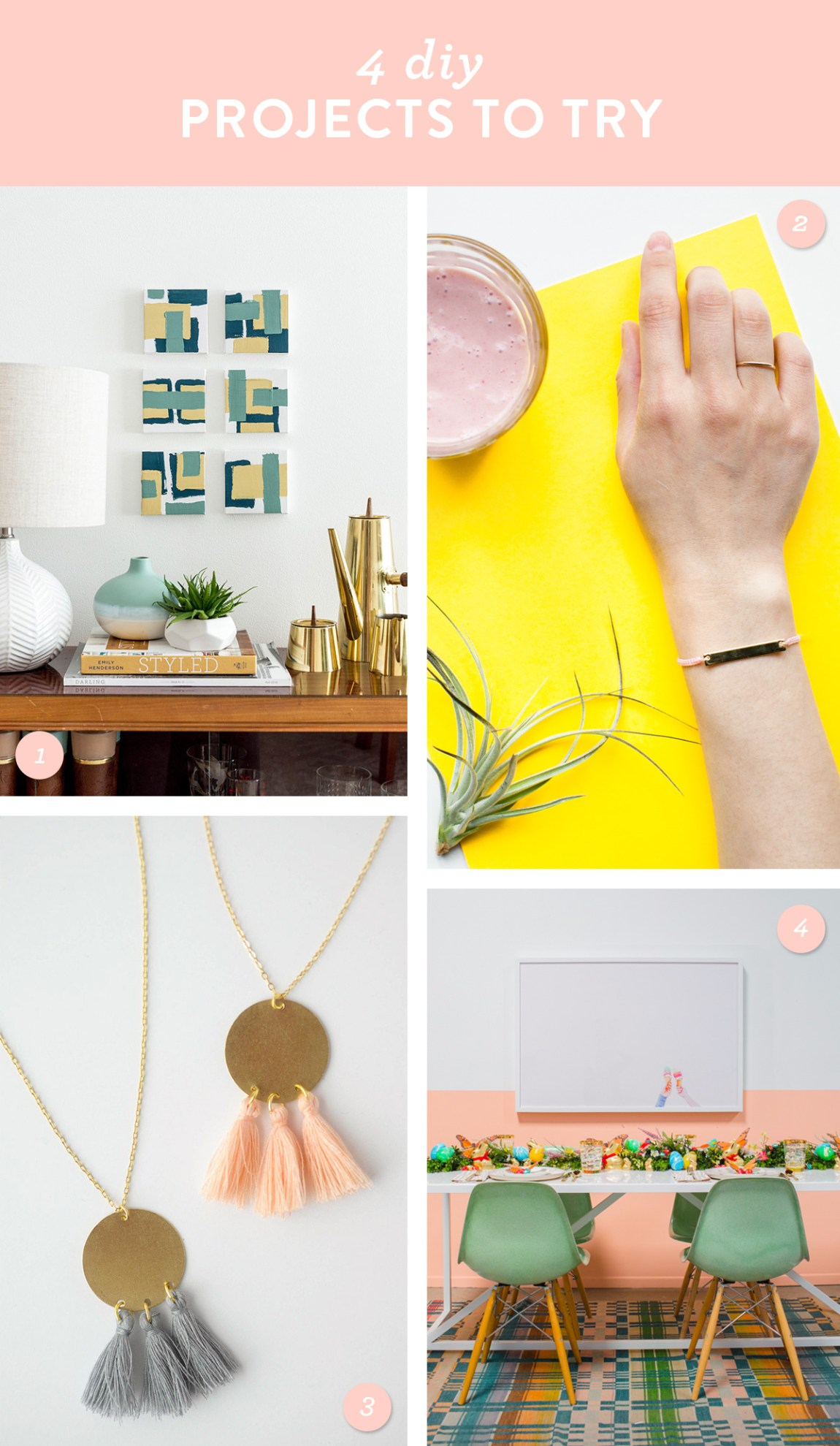 Try ones of these DIY home or jewelry projects this weekend!