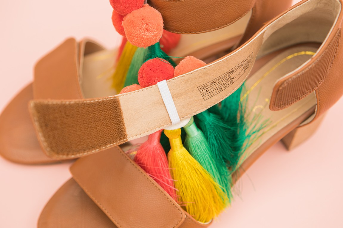 Learn how to make removable tassel and pom pom shoe charms!