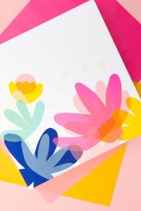 DIY Colorful Collage Wall Art - Sarah Hearts