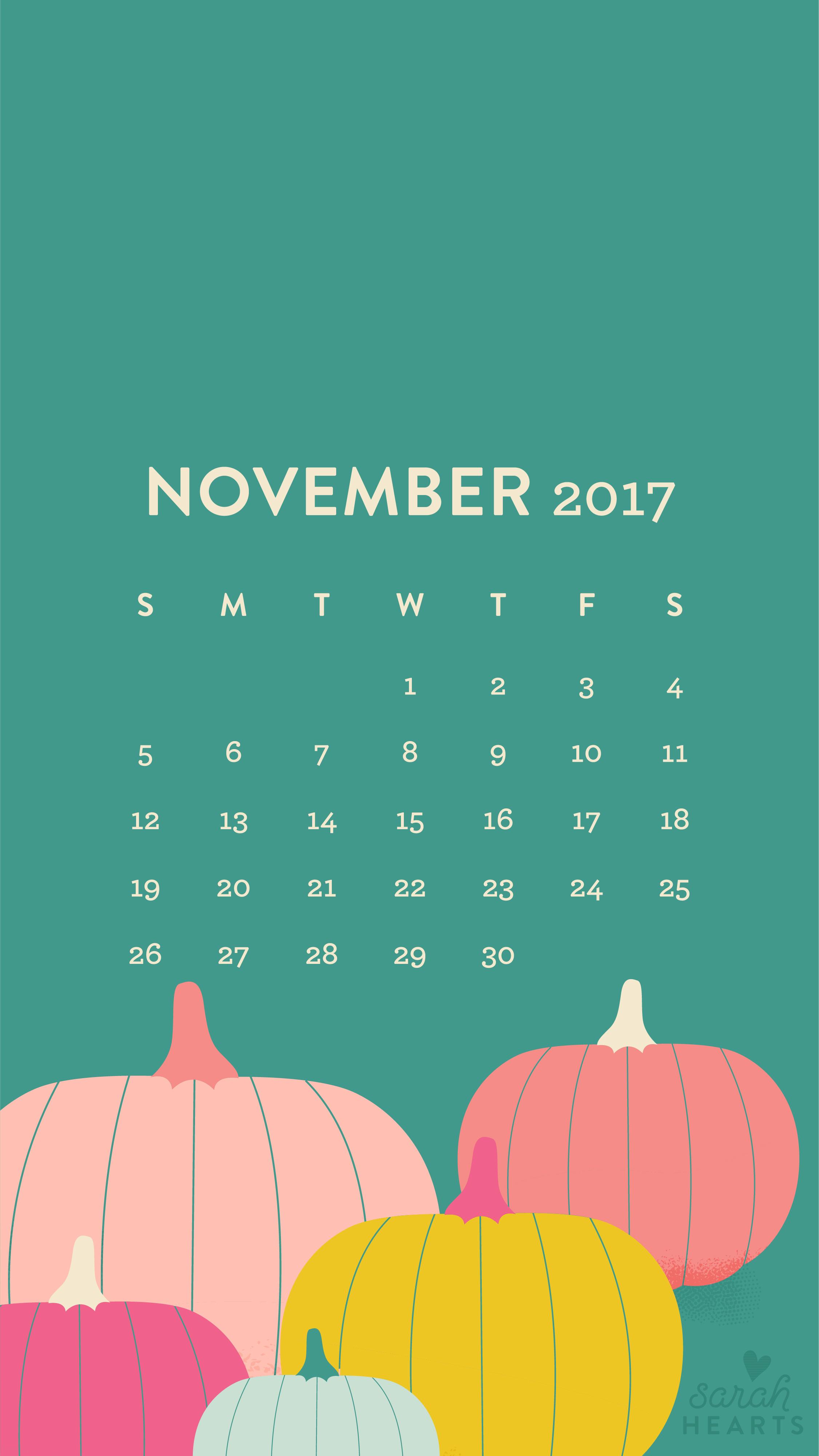 Fall Wallpaper For Laptop November 2017 Pumpkin Calendar Wallpaper Sarah Hearts