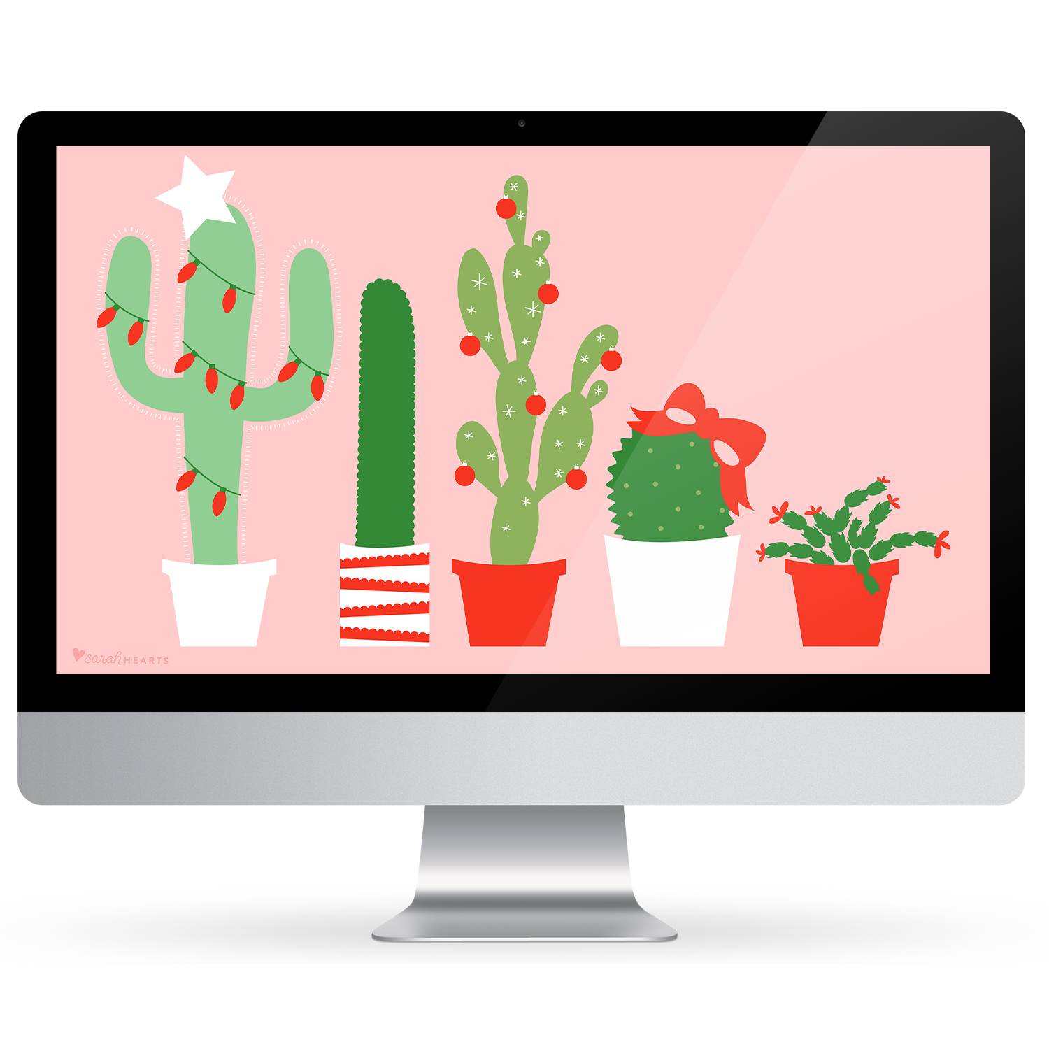 December Calendar Art : December christmas cactus calendar wallpaper sarah hearts