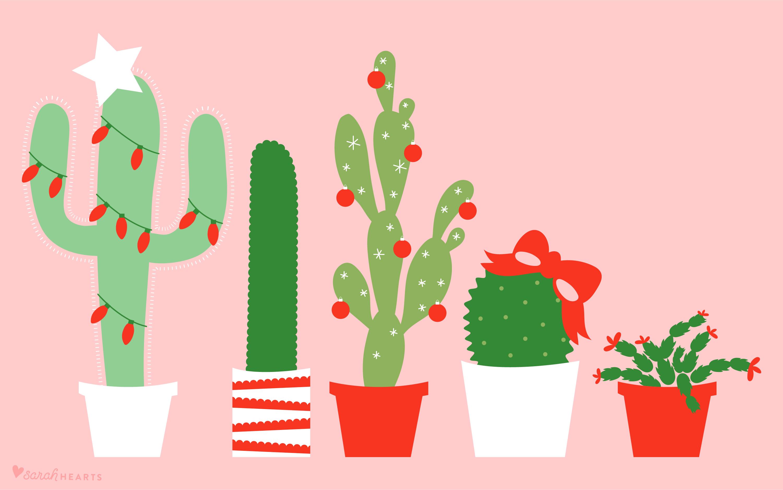Wallpapers For Computer Cute Trendy December 2017 Christmas Cactus Calendar Wallpaper Sarah