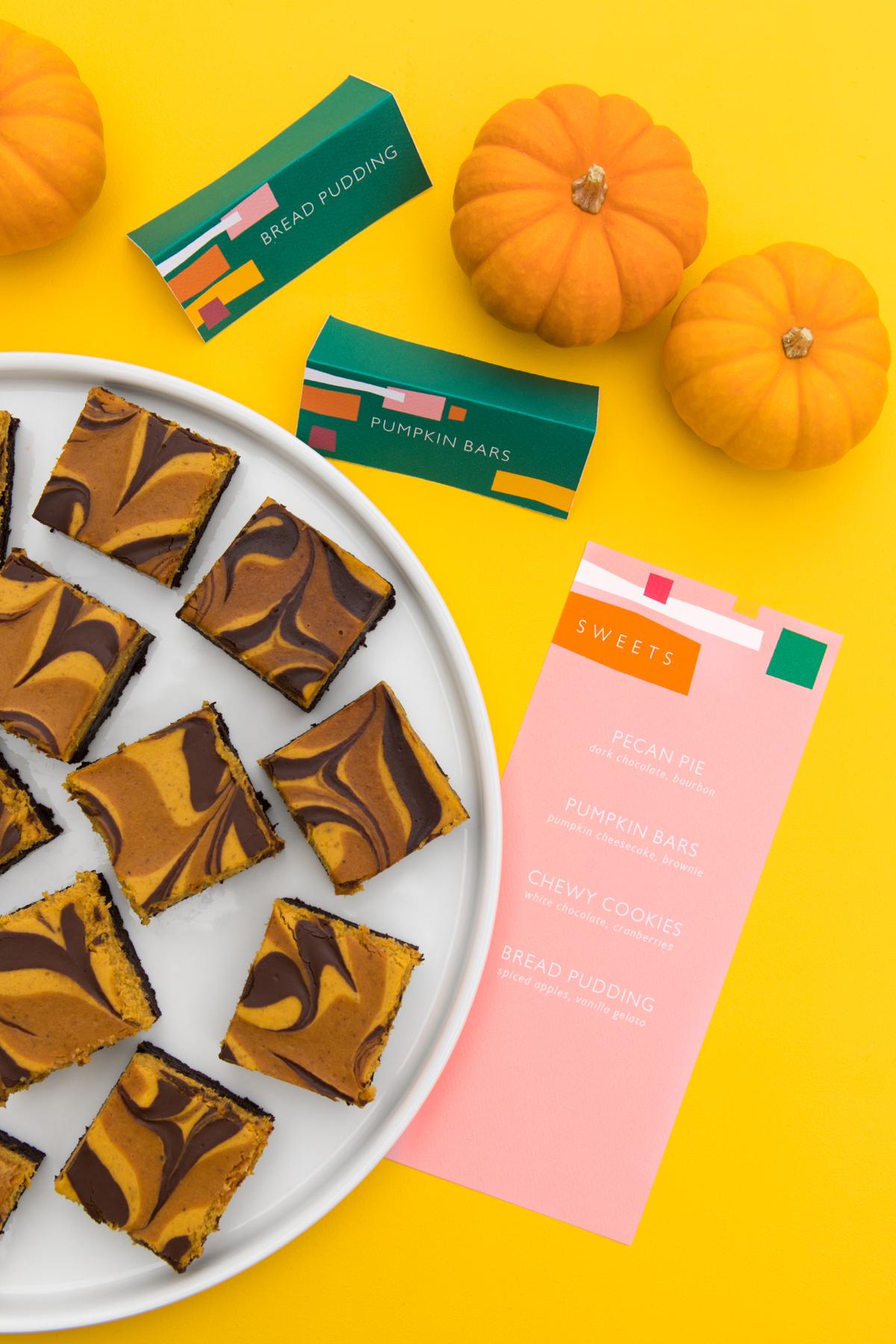 Printable Thanksgiving Place Cards Menus And Food Signs Sarah Hearts
