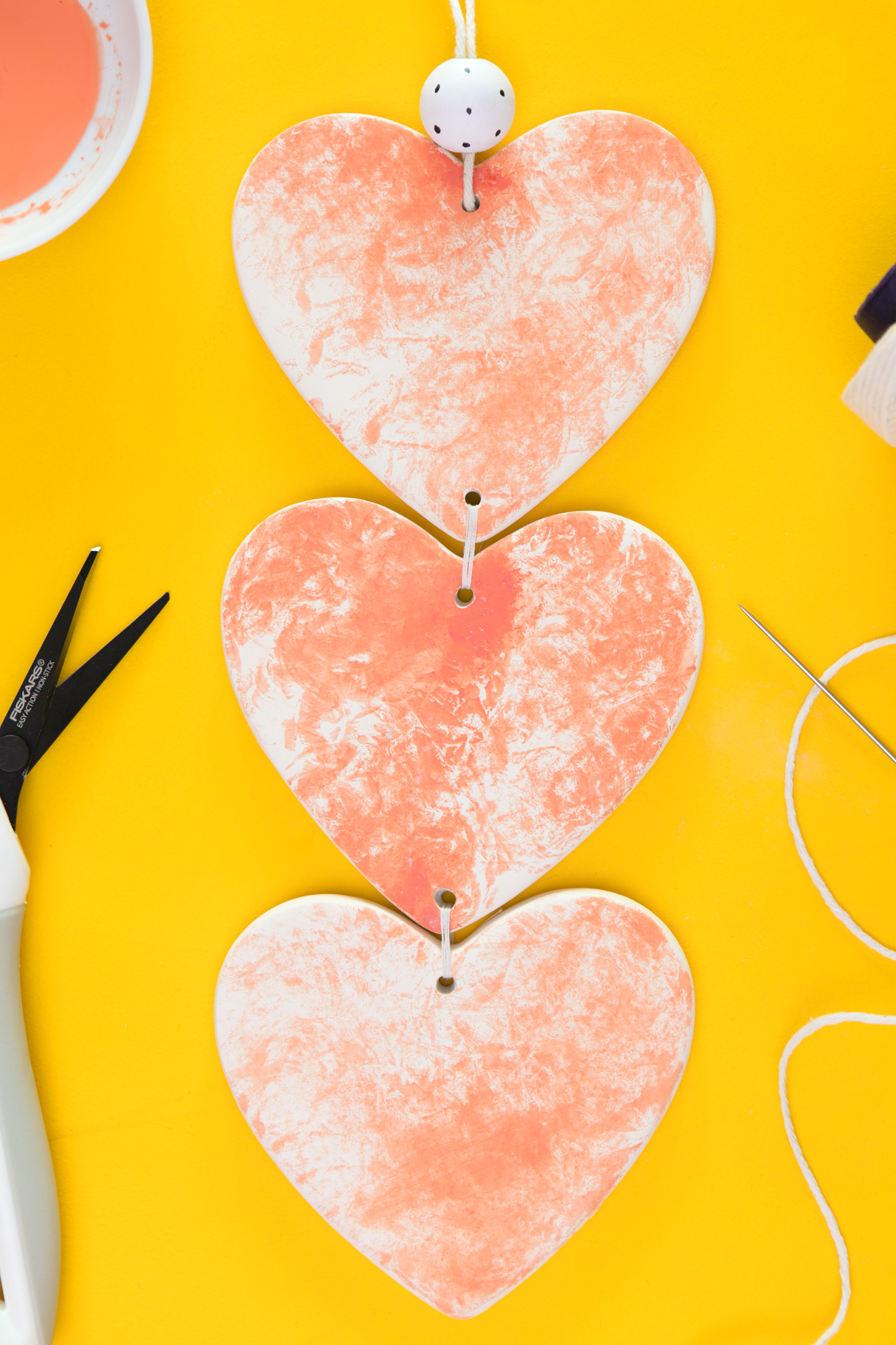 Funky Orange Heart Wall Hangings Motif - Wall Decoration Ideas ...