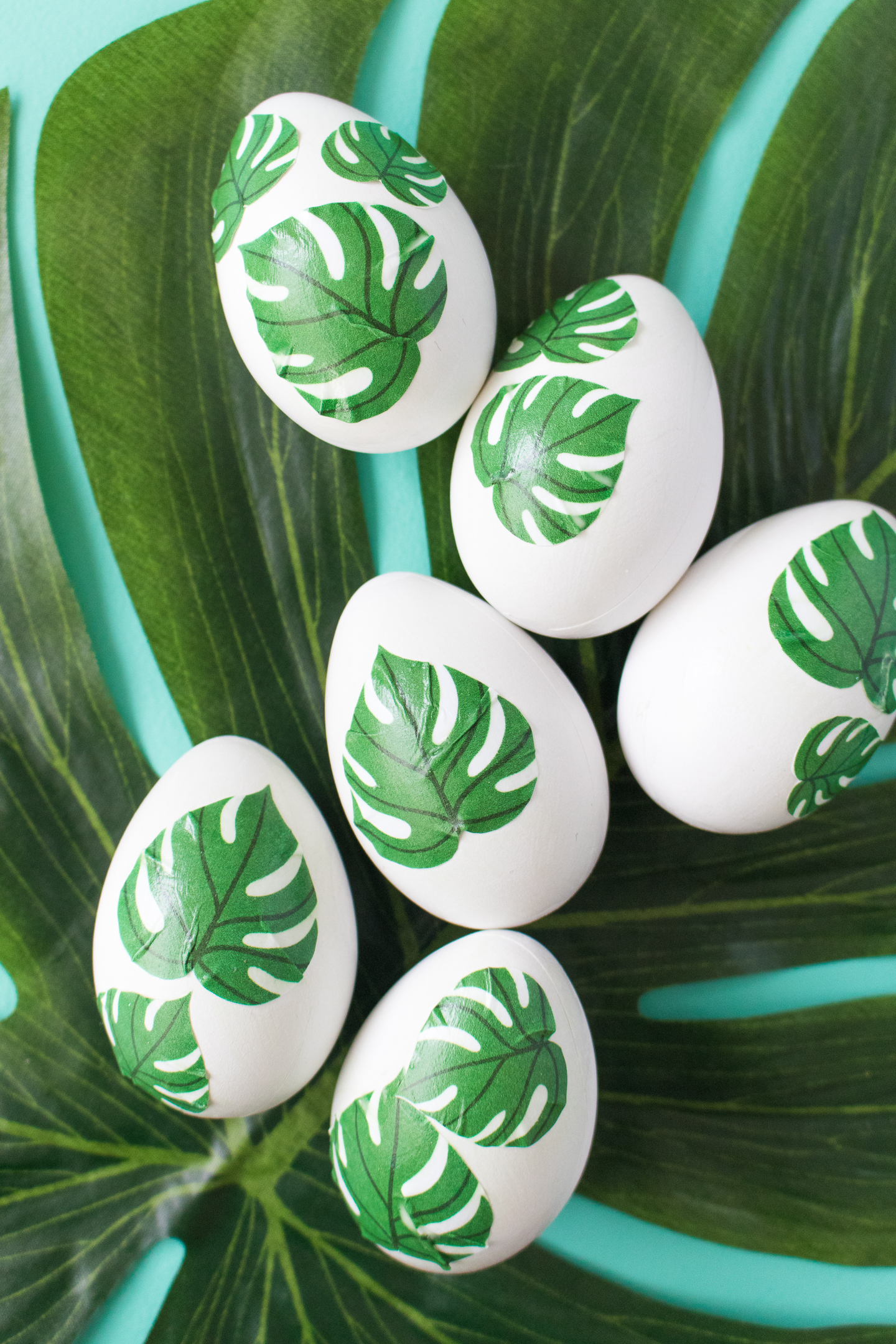 palm print easter eggs