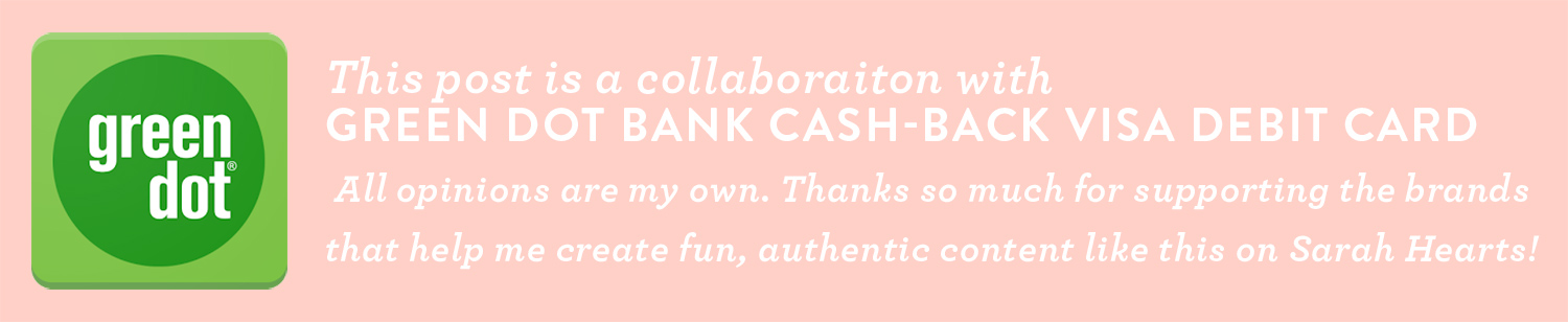 This post is a collaboration with Green Dot Bank Cash-Back Visa Debit Card.