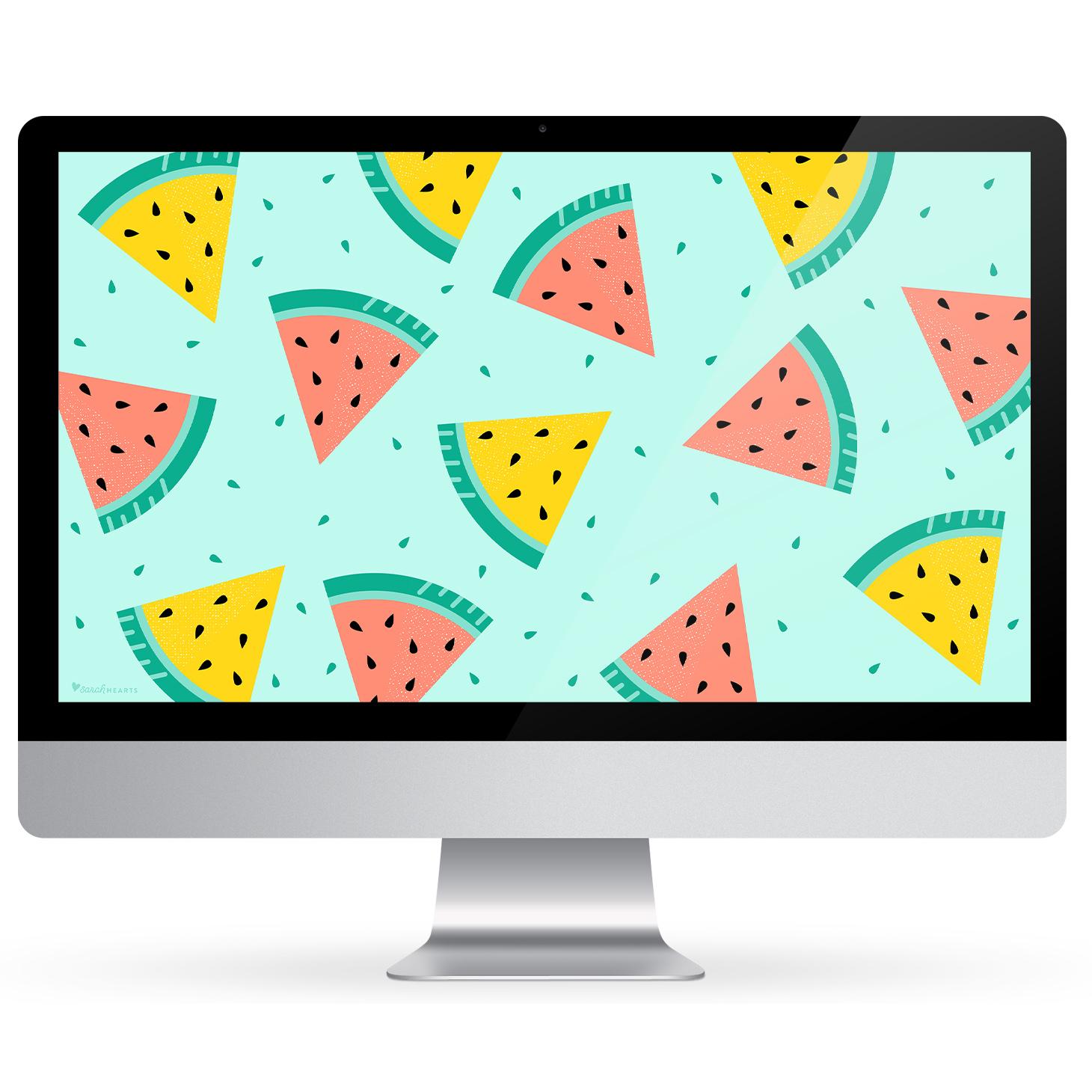July 2018 Watermelon Calendar Wallpaper - Sarah Hearts