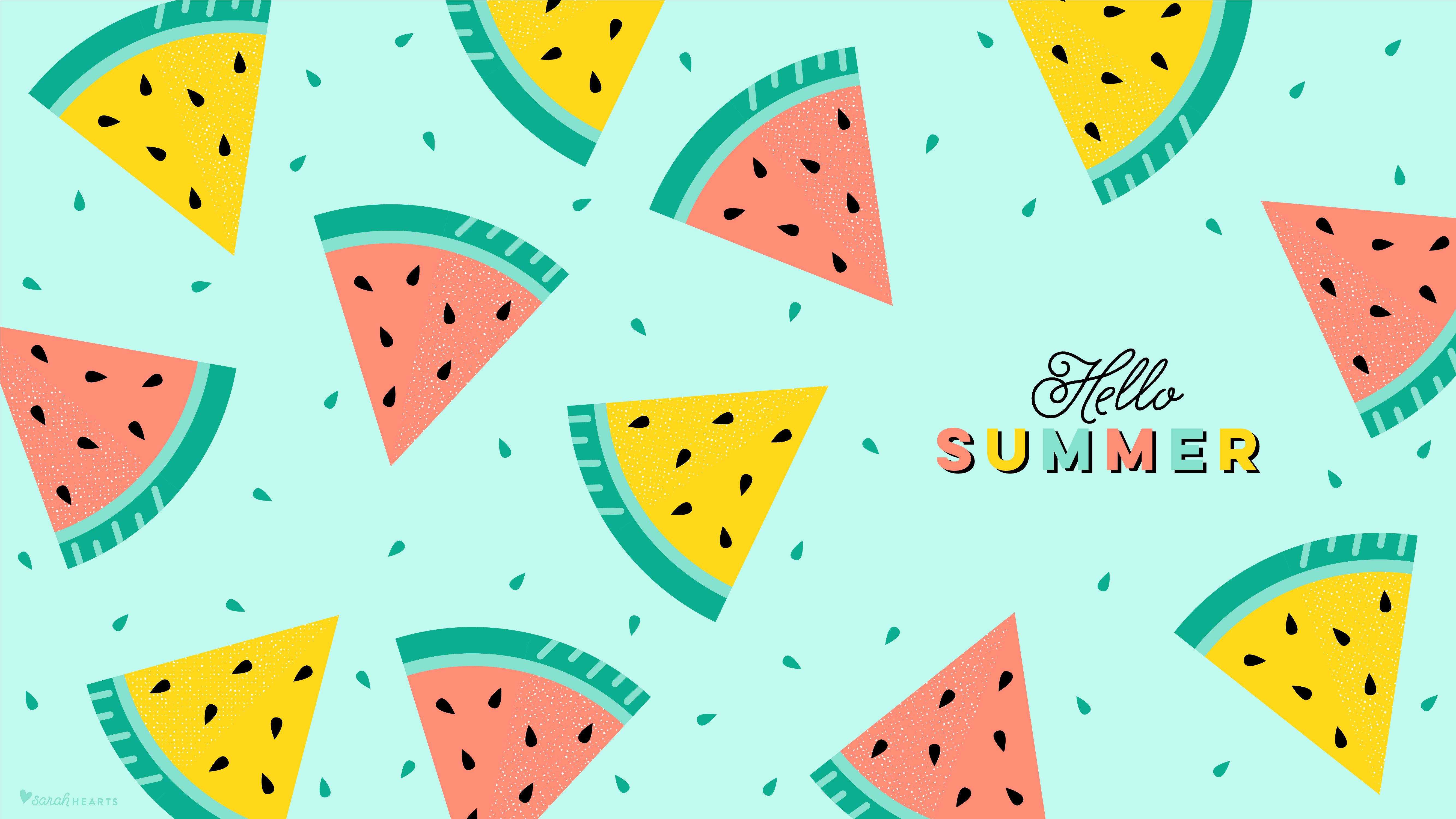 Be A Pineapple Quote Wallpaper July 2018 Watermelon Calendar Wallpaper Sarah Hearts