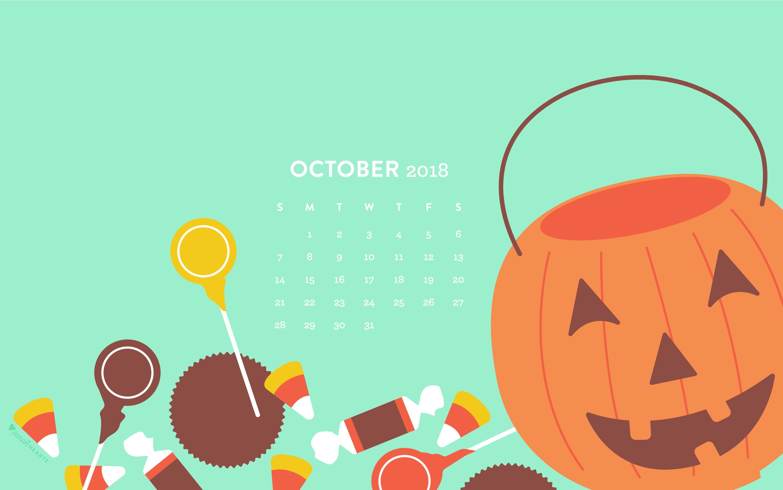 Free Fall Wallpaper Downloads October 2018 Halloween Candy Calendar Wallpaper Sarah Hearts