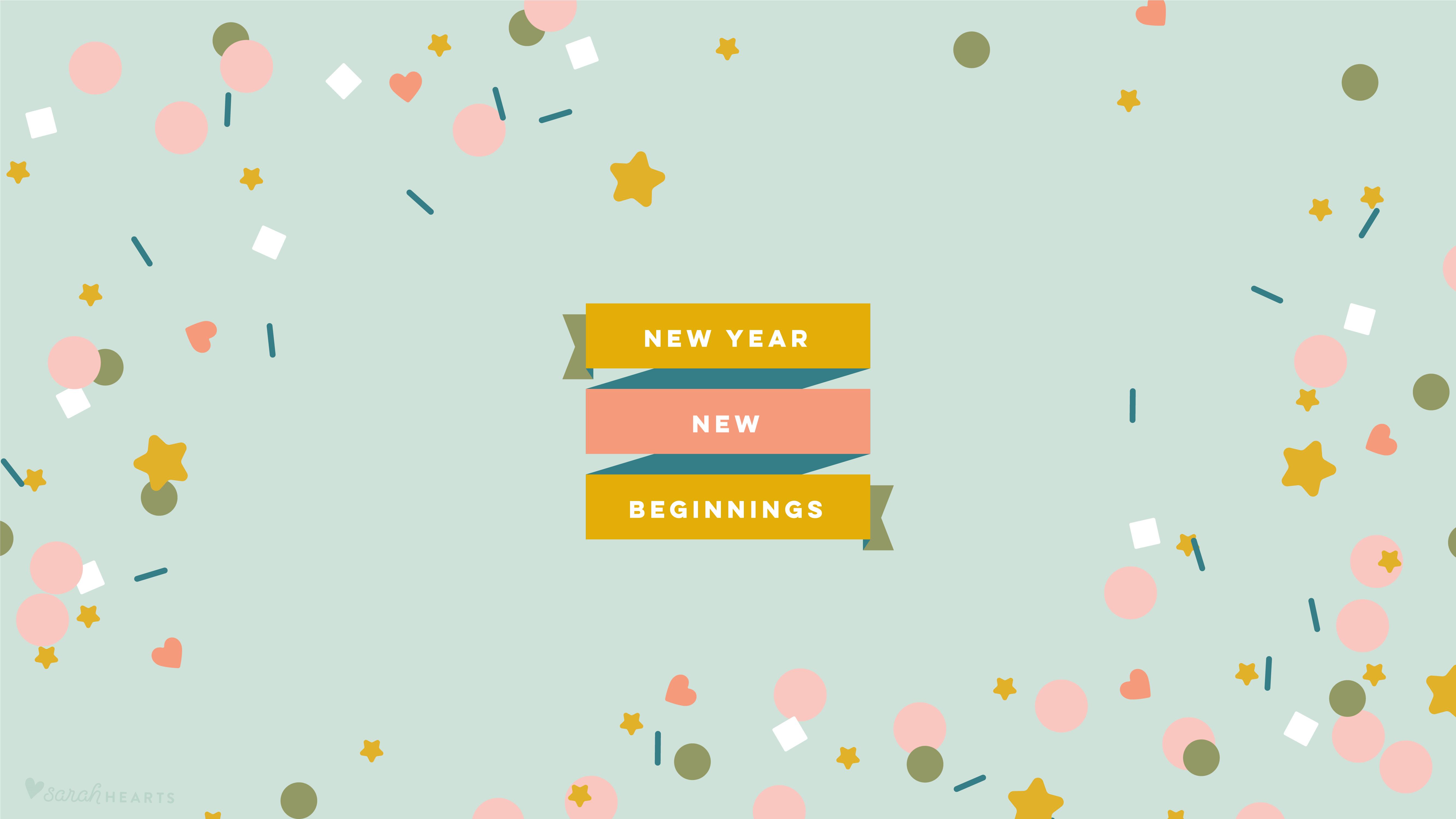 Cute Wallpapers Hello January January 2019 Confetti Calendar Wallpaper Sarah Hearts