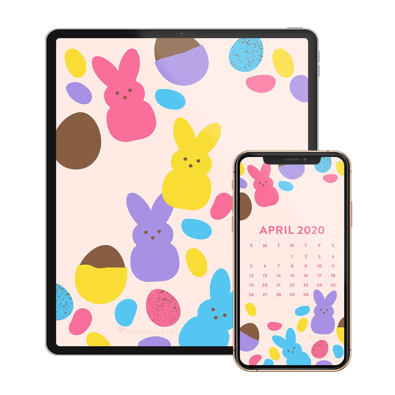April 2020 Easter Candy Calendar Wallpaper Sarah Hearts
