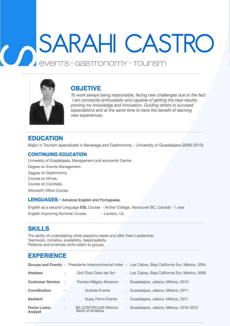 English CV  sarahicastro