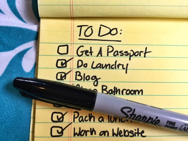 Passport To Do List